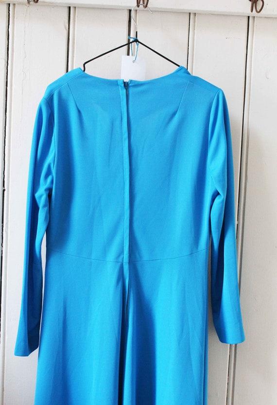 Vintage Blue Formal Dress - image 5