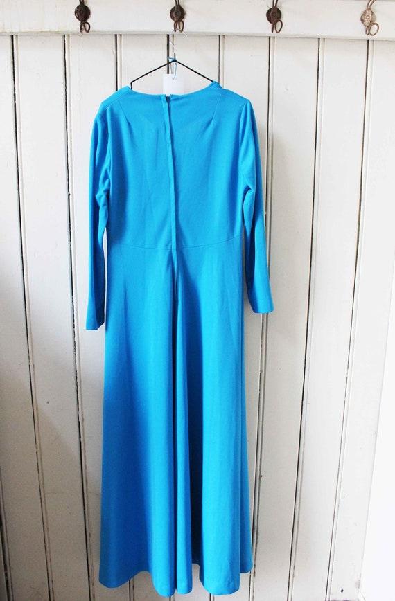 Vintage Blue Formal Dress - image 4