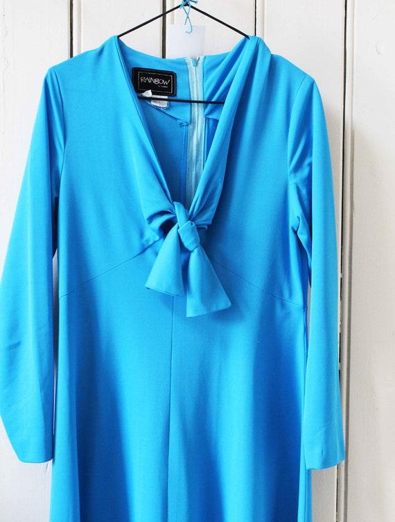 Vintage Blue Formal Dress - image 2