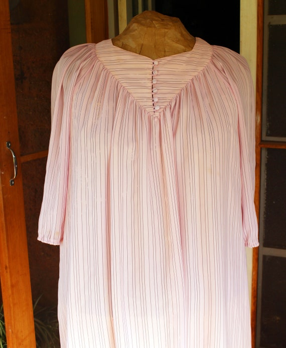 Plus Size Vintage Pink 80's Dress