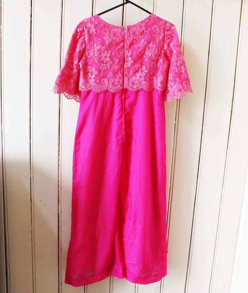 1960 rosa Spitze formale Kleid Vintage | Etsy