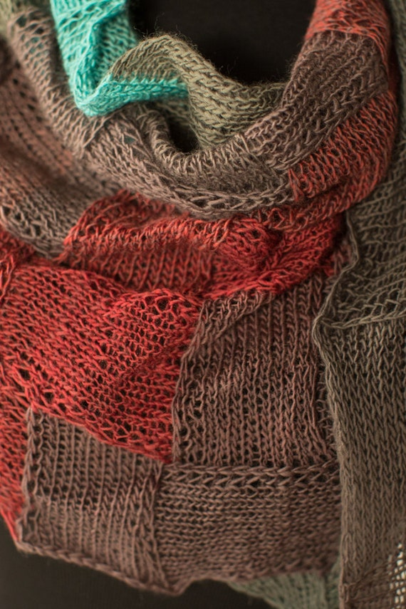 Pdf Carrie Entrelac Scarf Knitting Pattern Etsy