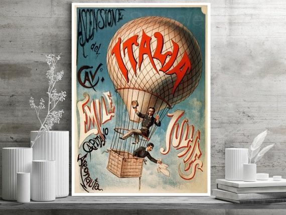LB02 VINTAGE LE BALLON HOT AIR BALLOON FRENCH ADVERTISING A4 POSTER PRINT