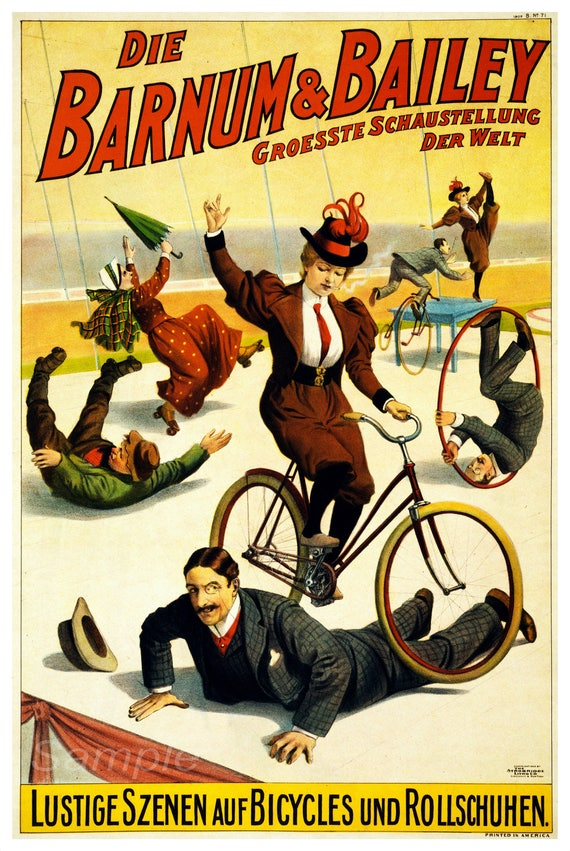Bb02 Vintage Barnum And Bailey Circus Advertising Poster Print Etsy