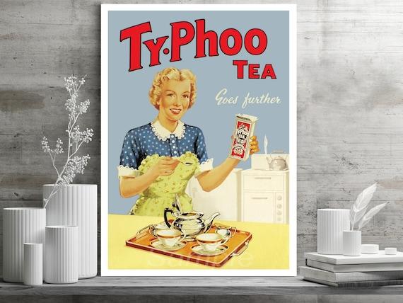 VINTAGE TY-PHOO TEA BAGS ADVERTISING A2 POSTER PRINT