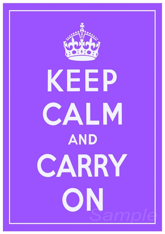 KC02 KEEP CALM AND CARRY ON A4 POSTER PRINT