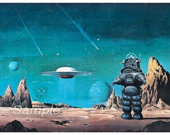 Vintage Forbidden Planet Movie Poster Print