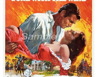 Vintage Gone With The Wind Poster Print