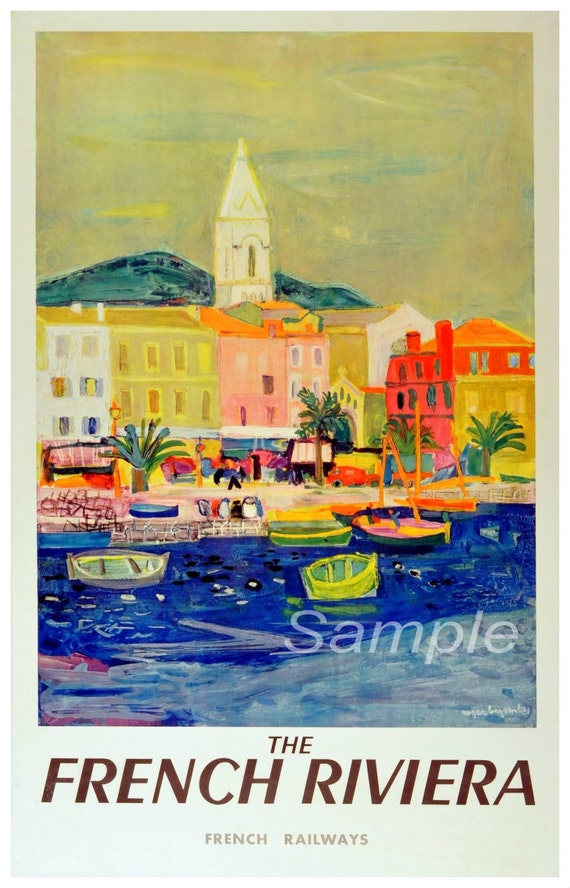 FR02 VINTAGE FRENCH RIVIERA RAILWAY A3 POSTER PRINT