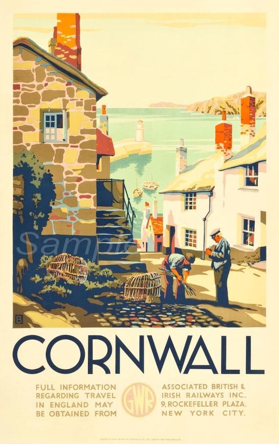 Vintage GWR Aberystwyth Railway Poster A4//A3//A2//A1 Print