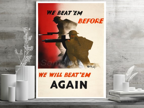 VINTAGE TELL NOBODY NOT EVEN HER WAR POSTER A4 PRINT
