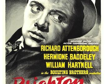 Vintage Brighton Rock Movie Poster Print