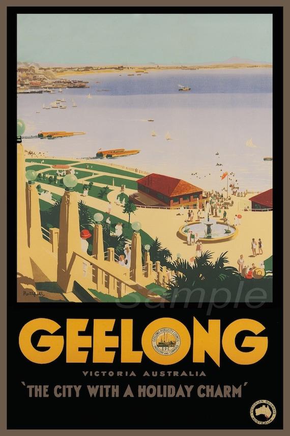 MA02 VINTAGE MELBOURNE AUSTRALIA TRAVEL A4 POSTER PRINT
