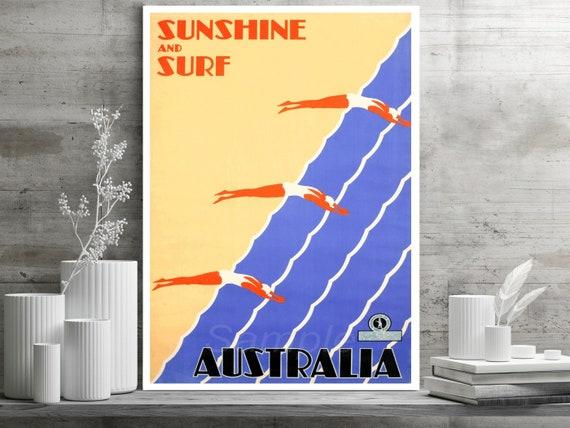 MA02 VINTAGE MELBOURNE AUSTRALIA TRAVEL A3 POSTER PRINT