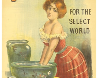 Vintage Scotland's Soap Advertising Poster Print