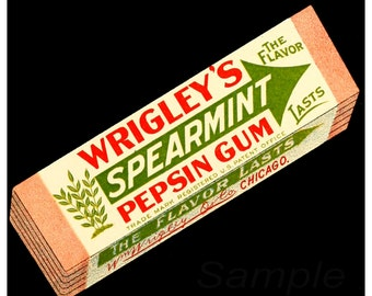 Vintage Wrigley's Chewing Gum Advertising Poster Print