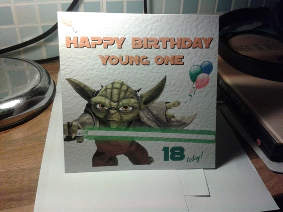 Star Wars Chewbacca Birthday Card relation Jedi age Personalised Any name