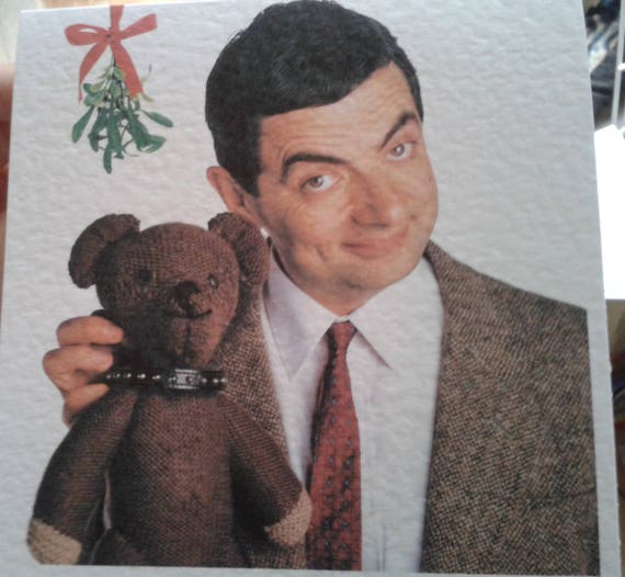 Mr Bean Christmas.Homemade Mr Bean Christmas Card Version 2