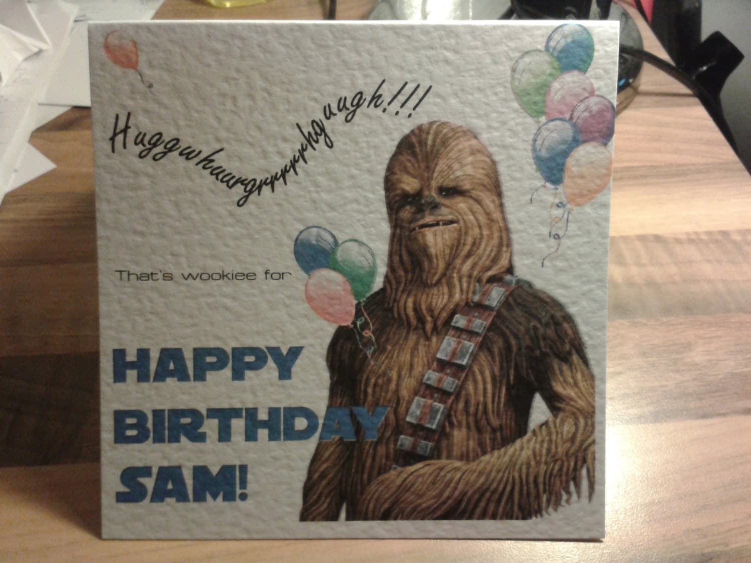 Handmade Personalised Star Wars Chewbacca Chewie Birthday Card Etsy