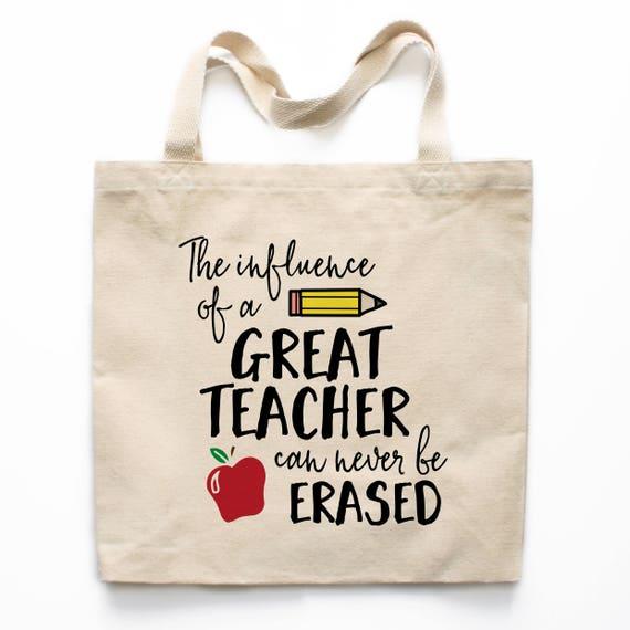 teacher tote bag svg