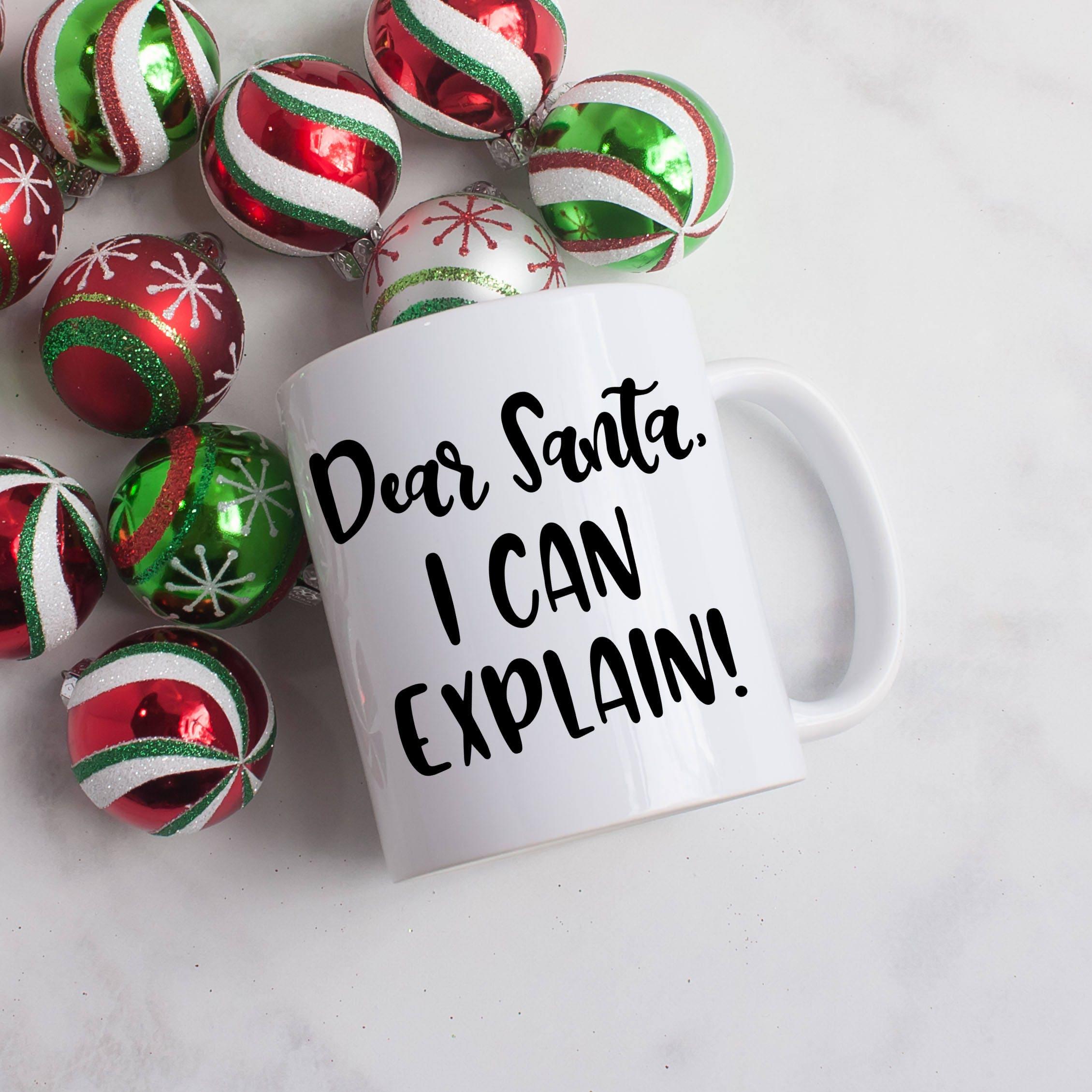 Funny Santa Mug Funny Coffee Mug Funny Holiday Gifts Funny | Etsy