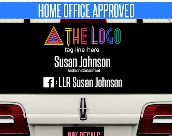 LLR SELLER Personalized DECAL Car Vinyl Sticker - Fashion Consultant / Independent Seller of leggings business card cards chalk board