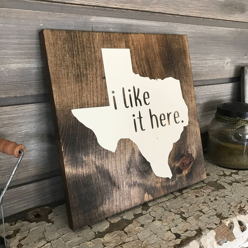 i like it here Hand-Painted Wooden Sign  bar love wedding image 0