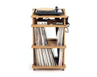 Line Phono Turntable Stand + Vinyl Record Storage