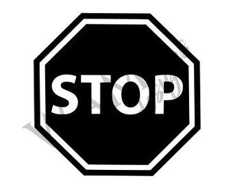 Stop Sign Etsy