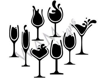 Free Wine Glasses Svg Etsy SVG, PNG, EPS DXF File