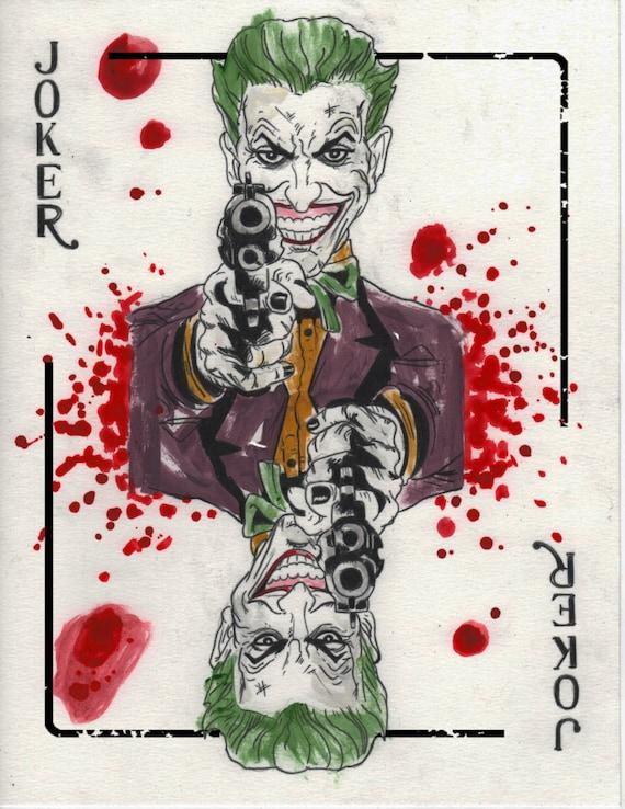 The Joker Art Card Dark Knight Print