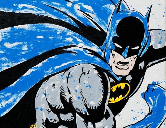 Homme De Chauve Souris Batman Dark Knight Dessin Cape Le Vs Etsy