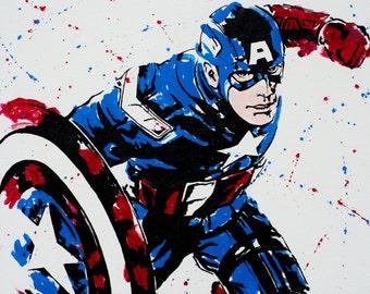 captain america marvel super hero avenger art