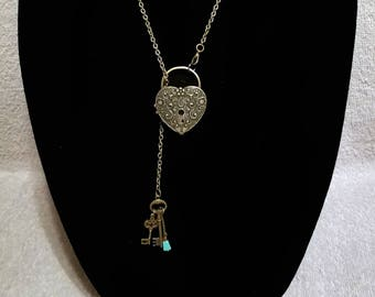 Heart Lock & Key Locket