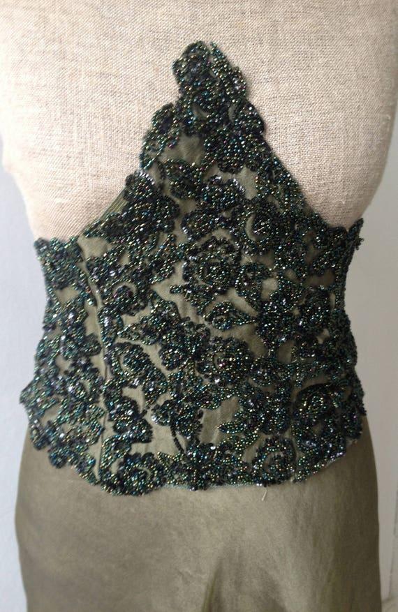 Jahrgang 1950 Kleid / 50er Jahre grün schillernden Perlen | Etsy
