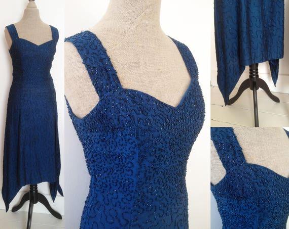 SALE – Vintage 1920s dress / 20s heavily beaded fl