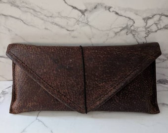 Hand Stitched leather pencil/pen pouch. a gift for mom