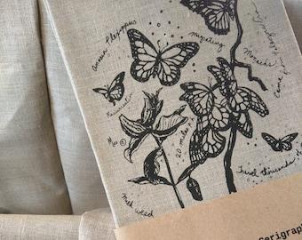 Monarchs Linen Tea Towel