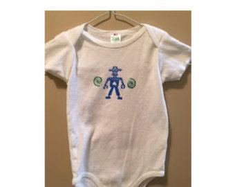 Baby Onesie Crazy Robot Organic Cotton
