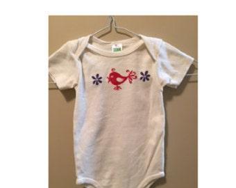 Baby Onesie Birdie Organic Cotton