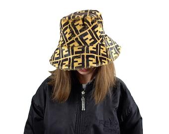 5efa9194892 Designer Inspired Monogram Fendi Faux Fur Hat Bucket Hat Logo Print  Polyester Brown Black Zucca