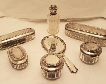 Austrian Silver Vanity Set