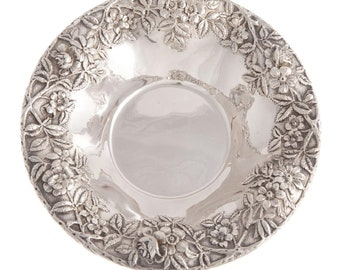 Pair Kirk Repousse Sterling Vegetable Bowls