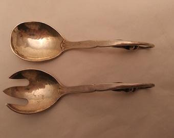 Georg Jensen Sterling Fork & Spoon Set - Pea In A Pod #21 Pattern