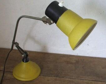 "Articulated desk lamp / Mint green/yellow ""50 's/60"""