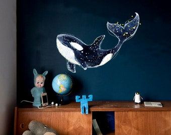 Whale Wall Decal Etsy