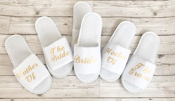 Personalised bride slippers maid of honour and mother of the bride and groom perfect for brides bridesmaids
