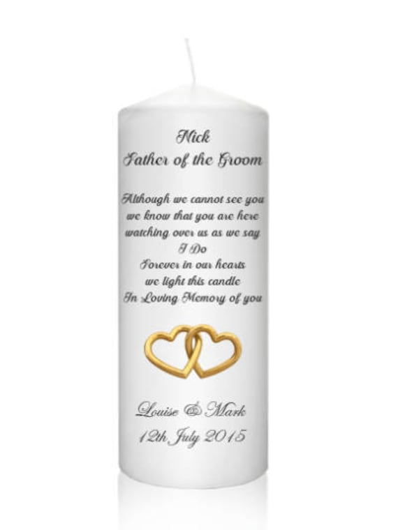 Shabby Personalised Chic Candle In Memory of a Loved one Dad Mum Nan Grandad etc