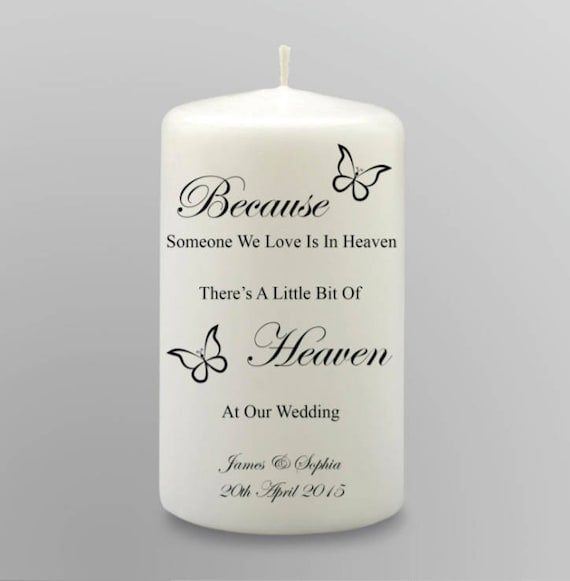 Wedding Candle butterfly Tree personalized
