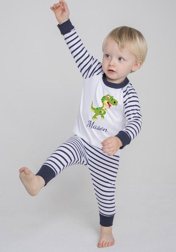 Initial Personalised Boys Pyjama PJ/'s Set Birthday Wedding Gift Toddler Robe Christmas Christening Gift 1st Birthday Outfit Monogram